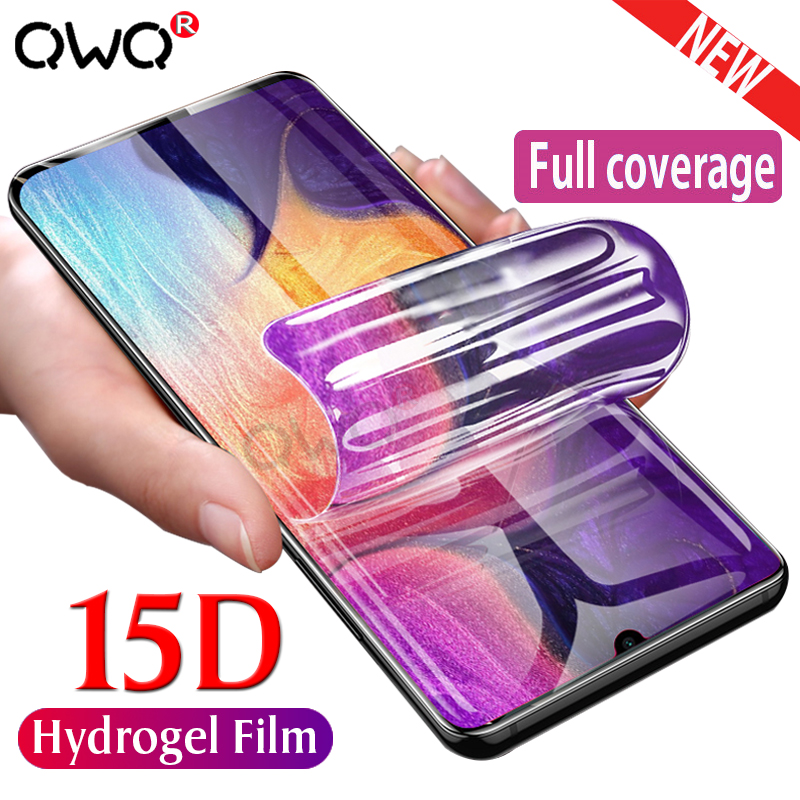 15D Hydrogel Film For Samsung Galaxy A50 A20 A30 A70 A10 Protector Film For Samsung A5 2017 A6 A7 A8 2018 M10 M20 M20 Not Glass