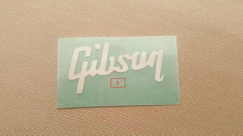 GIB di spessore per G Chitarre Peghead Intarsio Solido Madre di Perla Logo
