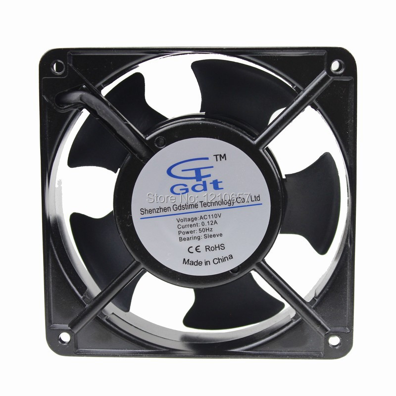 1pcs 110V 12CM 120MM 12038 120x120x38mm Cooling Cooler Ventilation Fan free delivery original afb1212she 12v 1 60a 12cm 12038 3 wire cooling fan r00