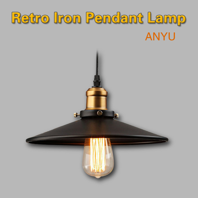 iron Lamp Holder Nostalgic Retro Edison Bulb ceiling Pendant lamp Vintage Industrial Lighting American Aisle Lights Lamp filamen