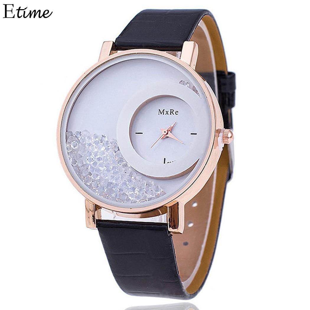 898d0c087f6 FANALA Mulheres Relógio Relogio feminino Relógio de Quartzo Moda de Luxo Da  Marca Pulseira de Couro Relógio de Senhoras de Cristal Bola de Rolo Relógio  ...