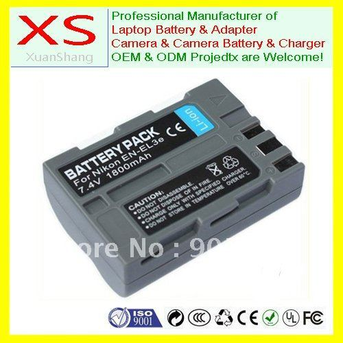 New EN-EL3e Battery for NIKON D100, D200, D300, D300s, D50, D70, D70s, D80, D90, DSLR D700 Digital Camera