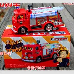 Bombeiro sam caminhão de brinquedo caminhão de bombeiros carro com música + led brinquedo do menino educacional brinquedos elétricos caixa de cor