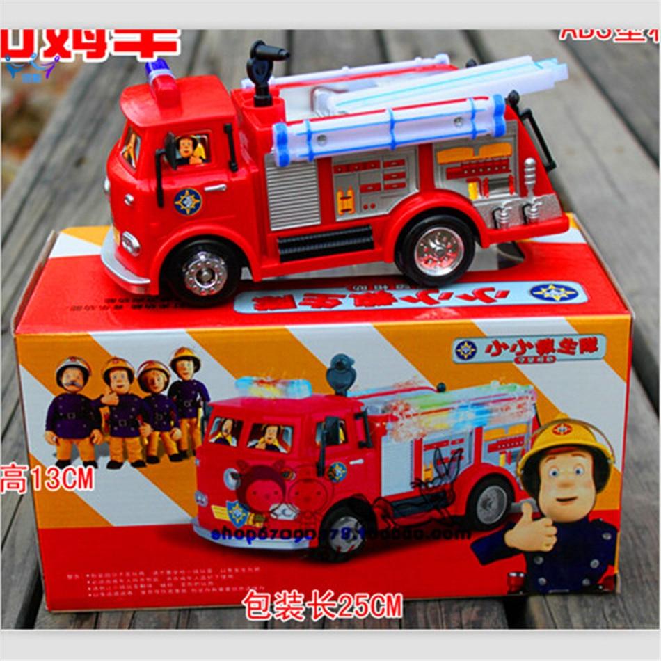 SAM LE POMPIER Camion de Jouet de Voiture De Camion De Pompier Avec Musique + LED Garçon Jouet Éducatif Électrique jouets boîte de Couleur
