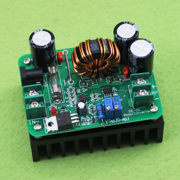 DC-DC 600W boost module solar powered notebook power 10-60V L 12-80V high power C6A1 dc dc buck boost module for solar battery board red lm2577s lm2596s