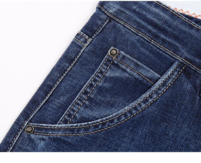 KSTUN Jeans Men Summer 2020 Thin Blue Slim Straight Denim Pants Casual Fashion Men's Trousers Full Length Cowboys Man Homme Jean 15