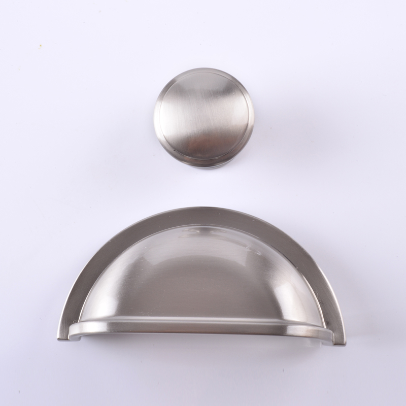3 Drawer Pull Dresser Pulls Knobs Handles Shell Cup Bin Classic Cabinet Door Knob Kitchen Brushed Nickel Steel Silver 76