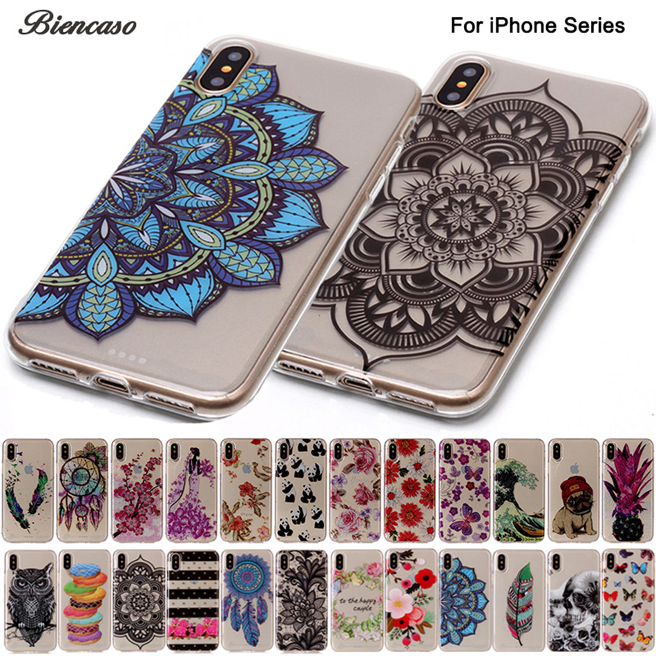 B67 Flower Owl Silicone Case For iPhone X 10 8 7 6 6s Plus 5 5S SE 5C Bling Glitter Ultra Soft TPU Cover Funda For iPod Touch 6
