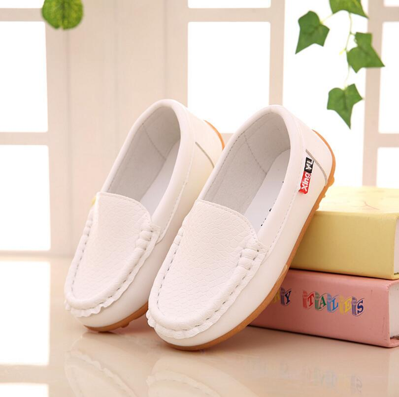 Children Shoes PU Leather Casual Styles Boys Girls Shoes Soft Comfortable Loafers Slip On Kids Shoes All Sizes 21-36 6 Colors