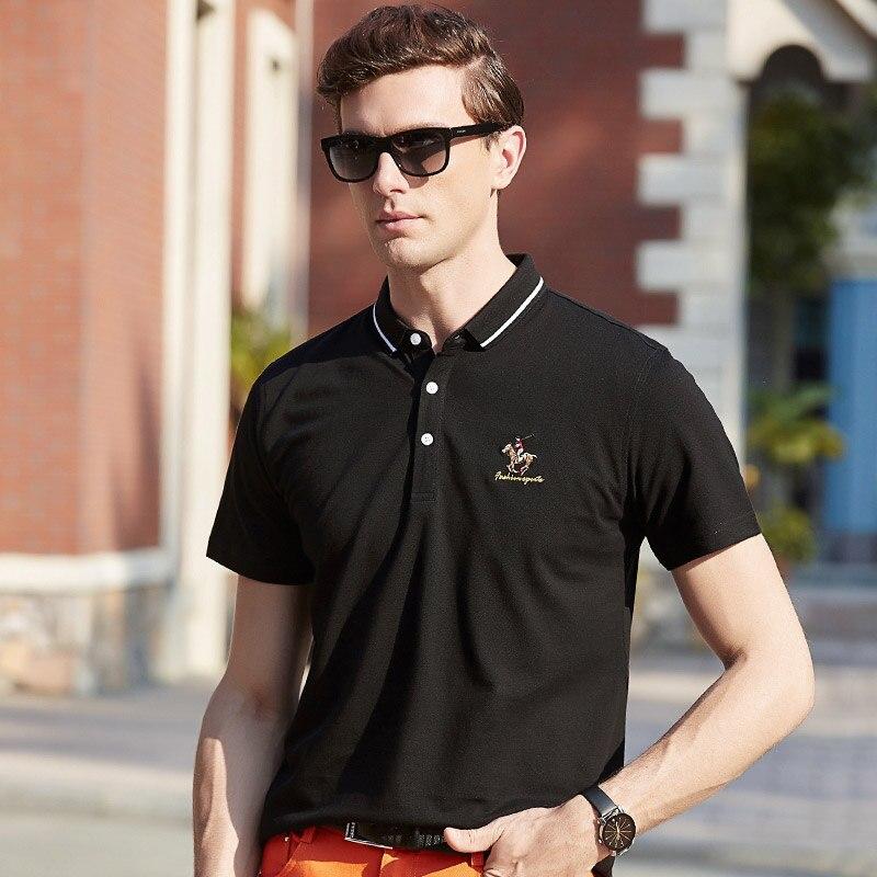 Polo Homme High Quality Tops&Tees Men's Shirts Men's Polo Shirt Summer Striped Brand Short Sleeve Polo Shirt Men 2018 619722