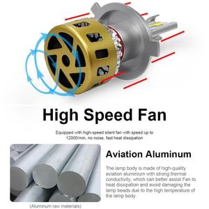 Image 4 - Roadsun lâmpada led para farol, h1, h7, h11, hb3, hb4, h8, três cores, alterável, 3000k lâmpada automática 4300k 6000k