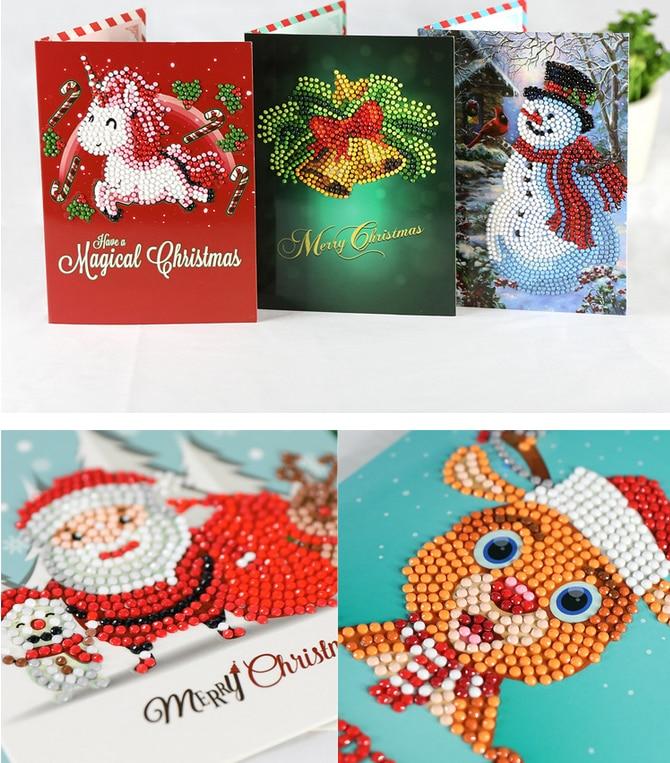 Hot Sale 5D DIY Diamond Painnting Christmas Greeting Cards full ...