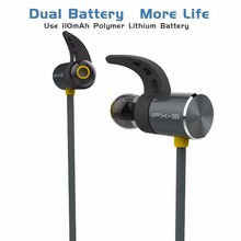 On sale PLEXTONE BX343 Double Battery More Life IPX5 Waterproof Earphone Magnetic Bluetooth V4.1 Wireless Sports Earphone With Micphone