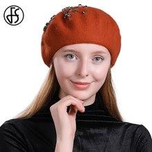 cbd44bbcd6f4a FS de invierno de Cachemira sombrero de la boina pintor francés estilo sombreros  mujeres Vintage sólido mujer sombrero elegante .