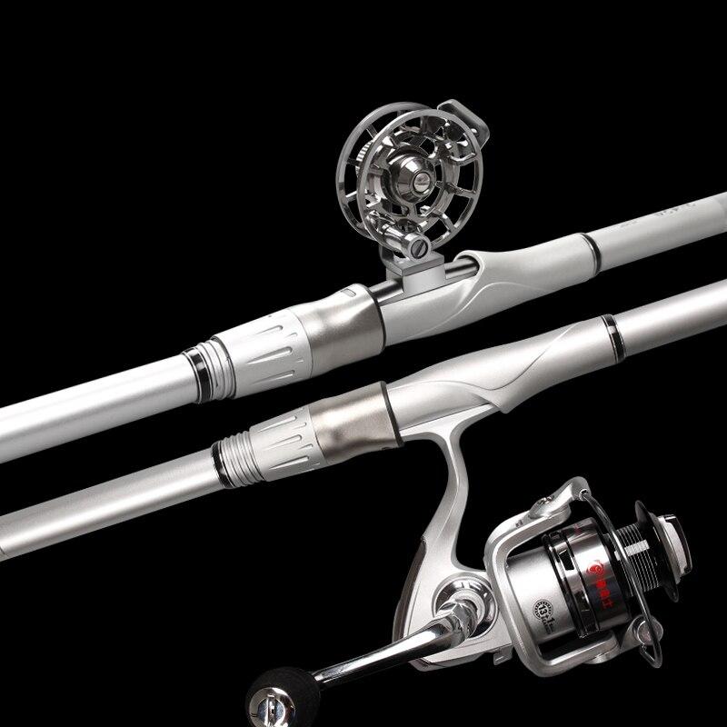 Canne à pêche Rock 3.6 M-6.3 M canne à pêche télescopique Super dure à haute teneur en carbone pour grand poisson canne à pêche Baitcasting canne de mer moyenne rapide A095