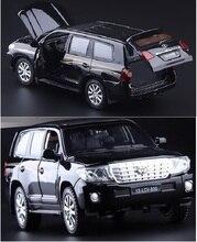 1:32 Новый Land Cruiser сплав модель автомобиля вытяните назад звук и свет детские игрушки ВНЕДОРОЖНИК оригинальный бесплатная доставка мальчик подарок