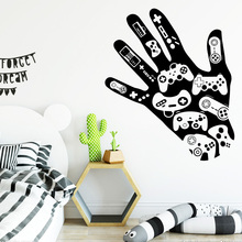 цена на Drop Shipping hand Home Decor Wall Stickers For Kids Room Living Room Home Decor Pvc Wall Decals