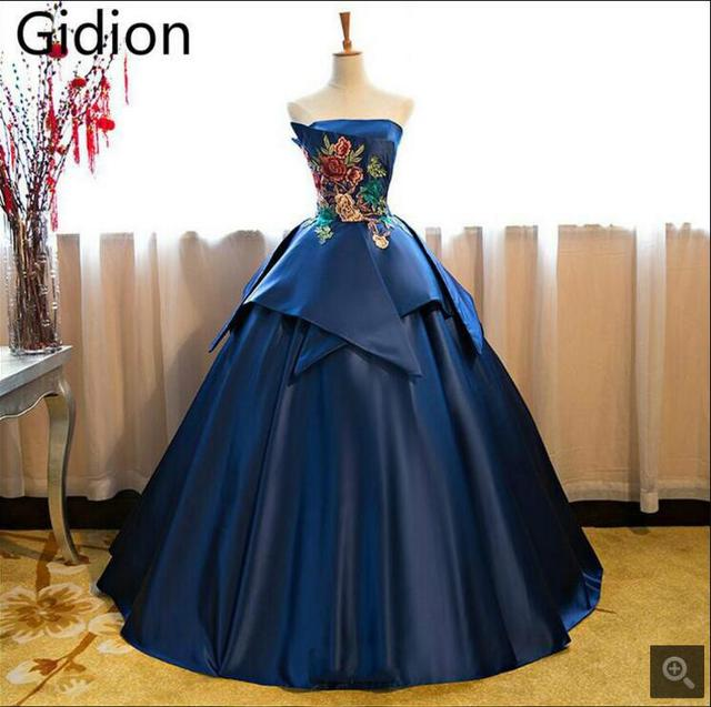 Real Picture 2017 Cheap Ball Gown Prom Dresses Sweetheart Neck