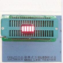 Свободный Корабль 100 шт. цифровой трубки 12.5*10 мм 5 Сегмент Красный Цифровой Дисплей Батареи для DIY завод прямые цена аккумулятора дисплей