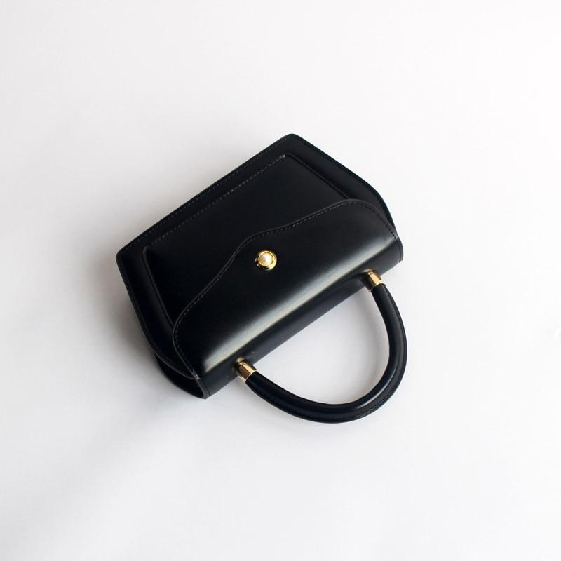 Conception contractée Style femmes noir brun sacs à main dame vache en cuir Messenger sac à bandoulière grande marque Style OL sacs