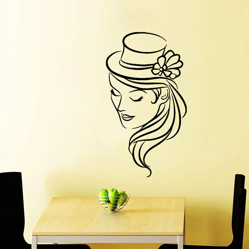 DCTAL Hair Salon Sticker Beauty Scissors Decal Haircut Name Posters Vinyl Wall Art Decals Decor Decoration Mural Salon Sticker removable sexy hair spa female face sticker art decor mural design for indroom decoration