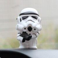 Украшение автомобиля Звездные войны трясти головой фигурку куклы салона Автоаксессуары орнамент автомобиль укладки подарки