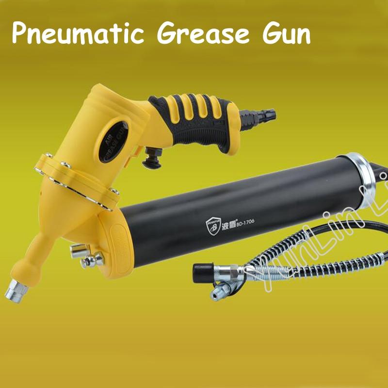 Pneumatic Grease Gun Hand-held Pneumatic Butter Gun Pneumatic Butter Grease Oiling Gun high quality pistol grip grease gun 400cc capacity cartridge gun pneumatic tool