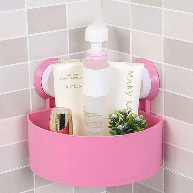 Durable Badezimmer Eckregal Saugnapf Dusche Organizer Lagerung Wand