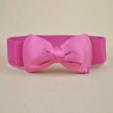 Women's summer sweet all-match classic bow decoration wide belt casual cummerbund