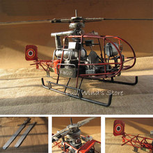Do the old French iron helicopter Model Retro Iron aircraft home furnishings