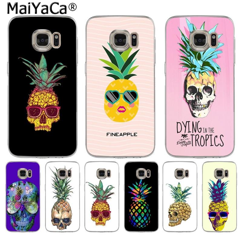 MaiYaCa Skull head fruit pineapple Fashion Fun Dynamic phone case for Samsung S3 S4 S5 S6 S6edge S6plus S7 S7edge S8 S8plus