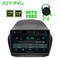 JOYING Octa Core Android 8.1 4+64GB GPS Stereo DVD Radio HD Player for Hyundai TUCSON IX35 2009 2015 with Carplay WiFi Bluetooth