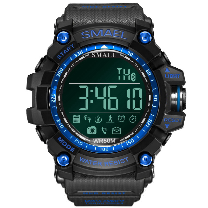 LY01 Military Style Bluetooth Watch Waterproof Call SMS,Message Sedentary Reminder Male Sport Wrist Smart Watch