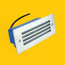 Led Wall Corner Lamp 3W LED Recessed Step Stair Light Waterproof Basement Porch Pathway Bulb Warm White AC 85-265V