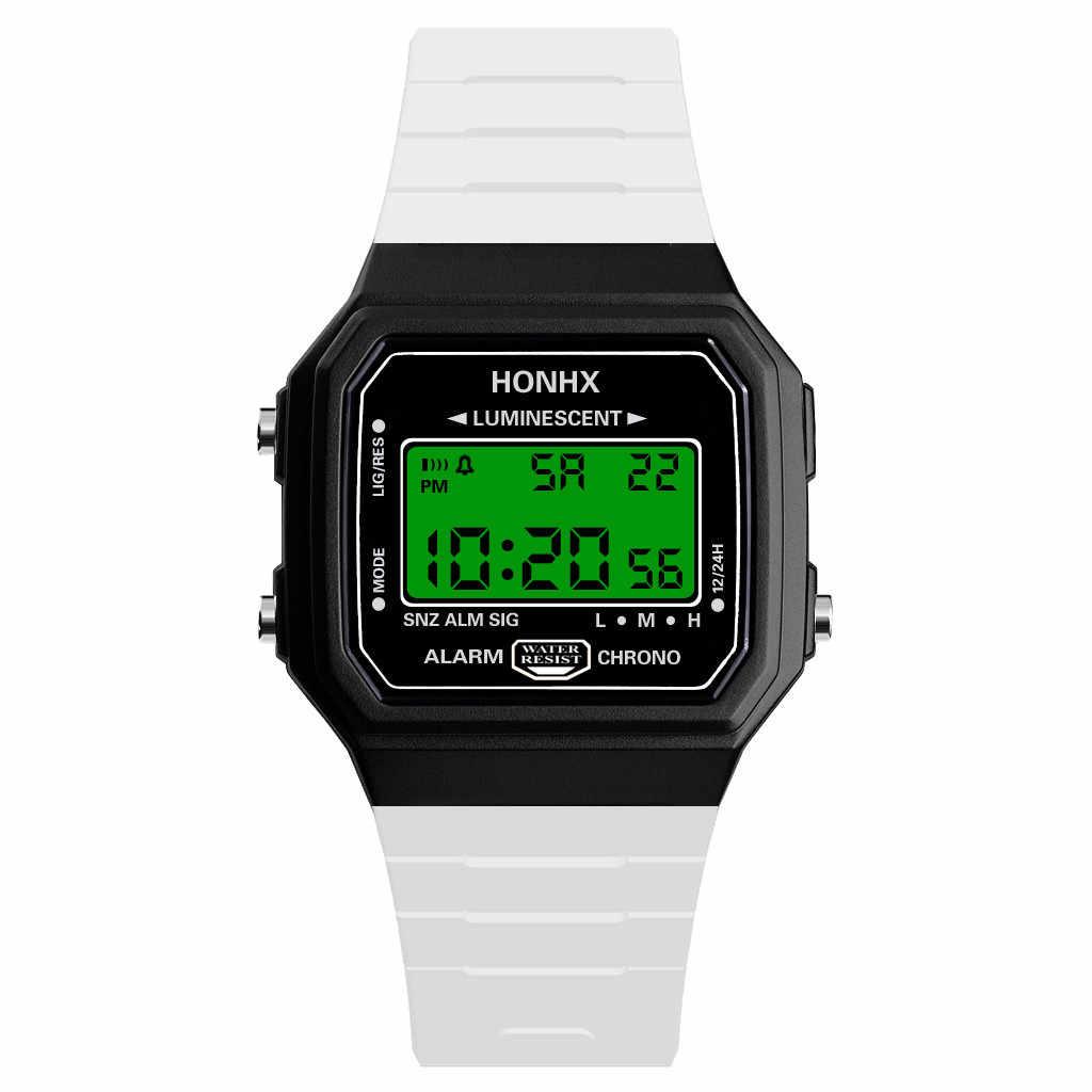 Reloj deportivo de pulsera con pantalla Digital LED para hombres mujeres Unisex niños niñas niños regalo