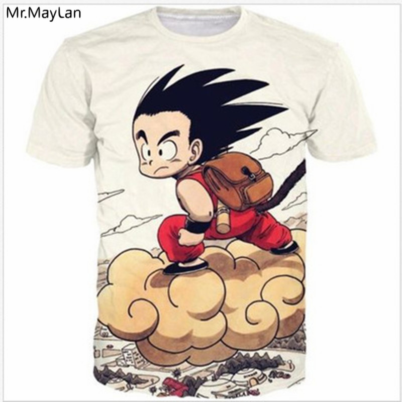Classic Anime Dragon Ball Z DBZ Goku Print 3D T-Shirt Men Women Casual T Shirts Tees Hip Hop Tshirt Boy 2018 Summer Tops 5XL