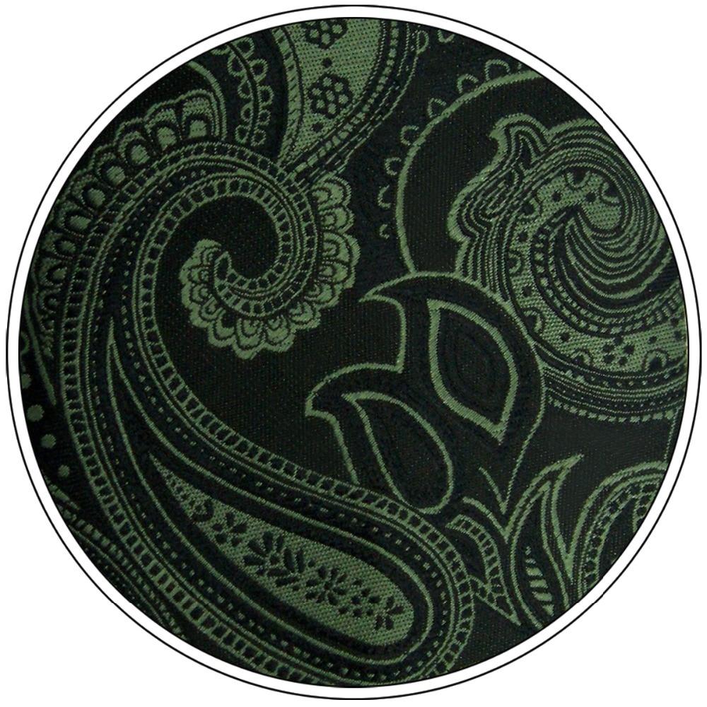 Y30 Dark Green Paisley Classic Extra Long Mens Tie Set Silk Silk Ties for men 63 quot in Men 39 s Ties amp Handkerchiefs from Apparel Accessories