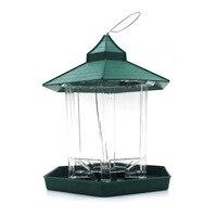 Phong cách châu âu hoang bird feeder chim Ngoài Trời feeders container thực phẩm Treo Gazebo Bird Feeder Hoàn Hảo cho Trang Trí Sân Vườn