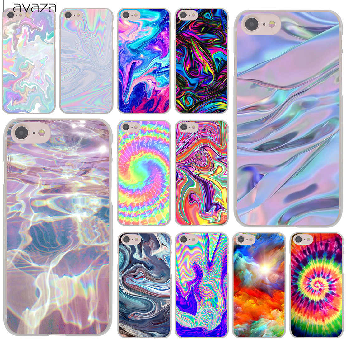 9b8f3253642 Lavaza Abstract Rainbow Ripple Tie Dye art Hard Cover Case for iPhone X XS  Max XR