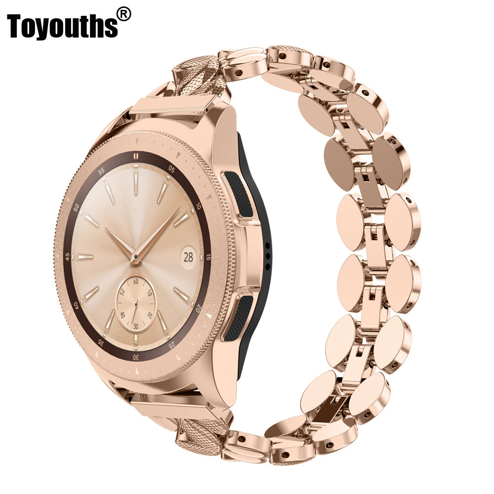 Metal Stainless Steel Band For Samsung Galaxy Watch 20mm Strap For Gear S3 Frontier /Galaxy Watch Active 40mm Metal Strap