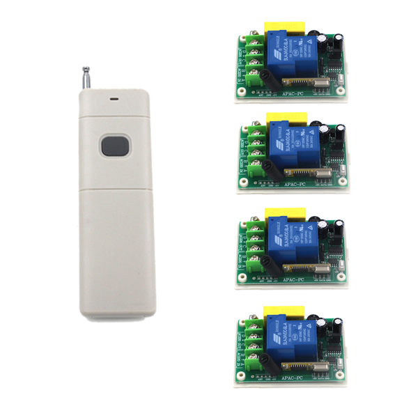 New Arrival !!! AC 220V 30A 1CH 315MHZ Wireless Remote Control Switch System 3 RC Receiver + 1 RF Transmitter SKU: 5326 ac 220v 30a 1ch rf wireless remote control switch set 1 receiver 4 transmitter on off fixed code for light lamp sku 5332