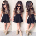 New 2017 Print Tutu Dress Girls Dresses Fashion Casual Summer Leopard Kids Girl Party Clothes for 3-9Y Toddler Girl Dress
