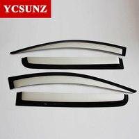 Car Wind Deflectors For Mitsubishi L200 Pickup Silver Car Window Deflectors Guard For Mitsubishi L200 Triton
