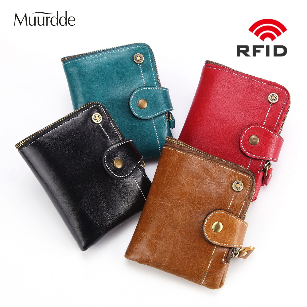 Short, Womens, RFID, Buckle, Zipper, Purse