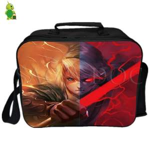 Lunch-Bag Shoulder-Bags Thermal-Insulation-Bag Picnic Women of Link Zelda Legend Split