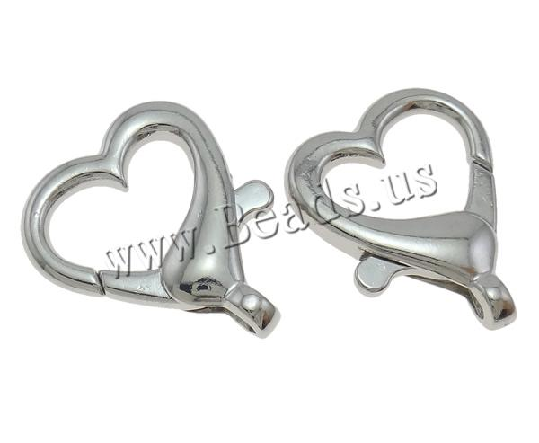 25pcs/lot Heart Design Silver Tone Lobster Clasp Clips Bracelets Necklaces Key Ring Findings Clasps For Keychains Making
