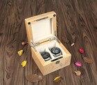 YA 2 Slots Wood Watch Box With Lock Red Men's Watch Storage Case Fashion Women Watch Gift Display Case For Luxury Watch W028