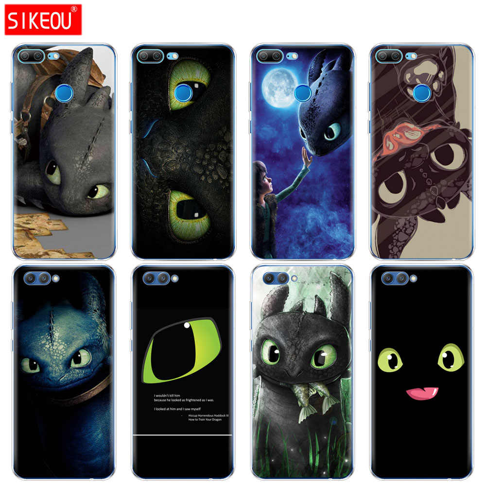 Silicone Cover phone Case for Huawei Honor 10 V10 3c 4C 5c 5x 4A 6A 6C pro 6X 7X 6 7 8 9 LITE Toothless Train Your Dragon