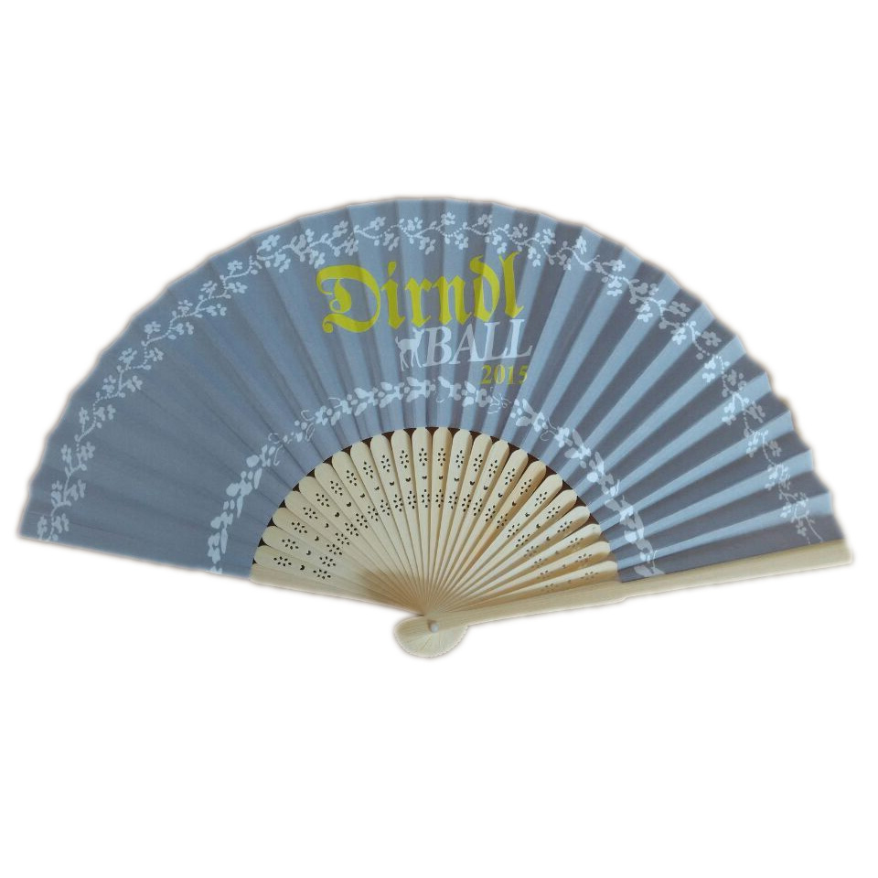 100pcs Dhl Free Shipping Ladies Hand Fan Customized