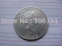 FREE SHIPPING wholesale 1792 Quarter Dollar Coins Copy 100% coper manufacturing silver-plated